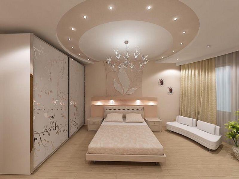 Гипсокартон для спальни дизайн