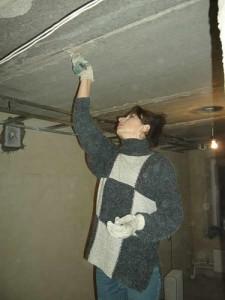 Фото: Подготовка потолка