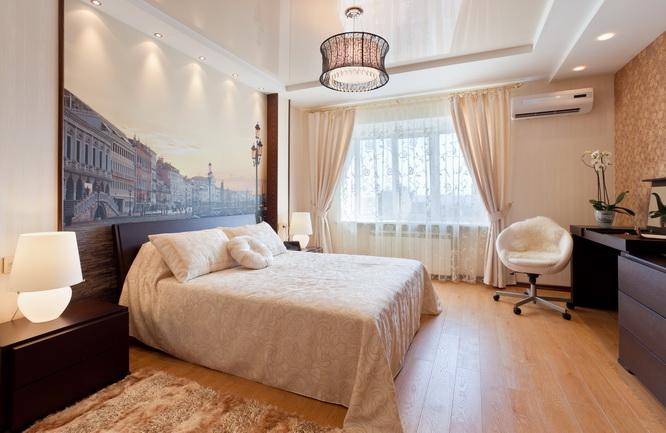 Фото: Бежевая спальня