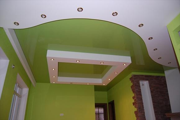 Оформление потолка гипсокартоном: фото дизайнерских решений