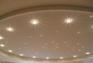 Точечные светильники для гипсокартонных потолков — создание яркой обстановки своими руками