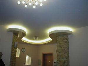 Фото: Потолок из гипсокартона с подсветкой