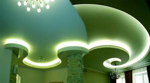 Фото: Дизайн гипсокартонного потолка
