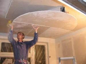 Фото: Потолок из гипсокартона своими руками