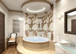 Потолок в ванной из гипсокартона — практичное украшение помещения своими руками