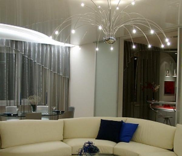 Фото: Подвесные и натяжные потолки