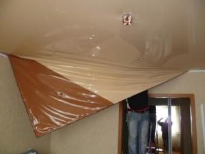 Можно ли перетянуть натяжной потолок?