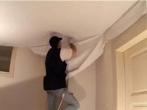 Холодная установка натяжных потолков — монтаж потолочной поверхности своими руками