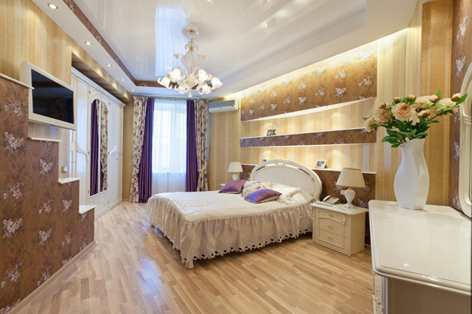 Натяжной потолок в спальне — создание уютного спального помещения