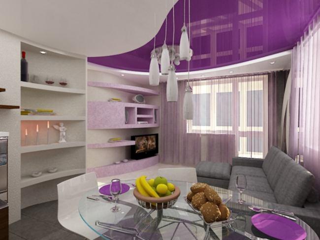 Фото: Использование фиолетовых оттенков