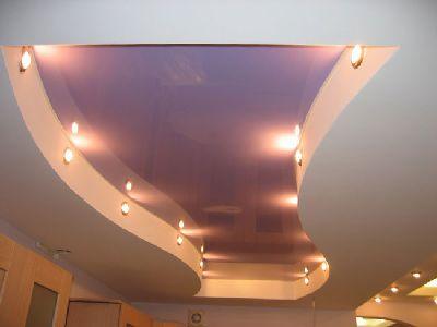Фото: Конструкции натяжные потолки + подвесные потолки одни из самых популярных