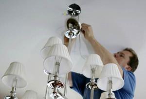 Фото: Установка осветительного прибора