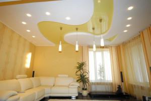 Расположение лампочек на натяжном потолке — как правильно разместить осветительные элементы?