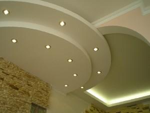 Фото: Установка гипсокартонного потолка