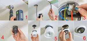Фото: Установка осветительного оборудования