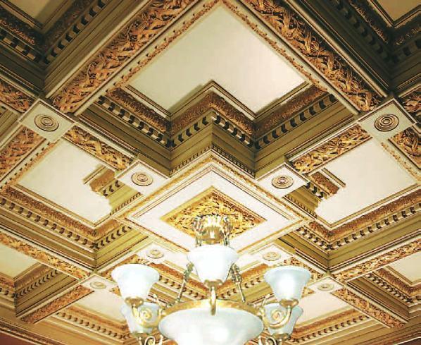 Фото: С древних времен поверхность украшалась гипсовой лепниной
