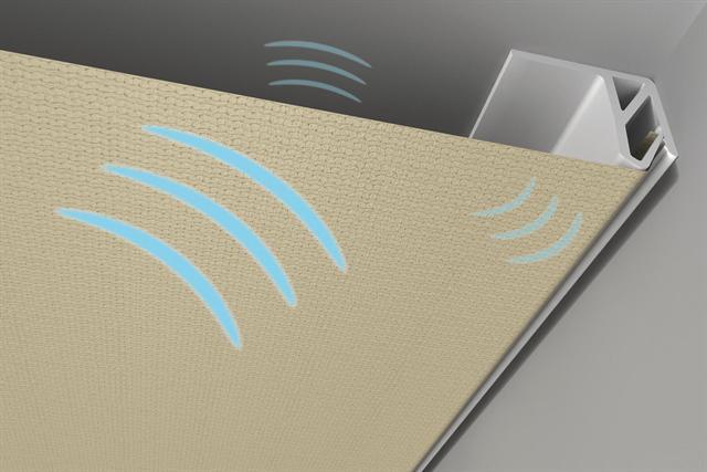 Натяжные акустические потолки — хорошая защита от раздражающих и громких шумов