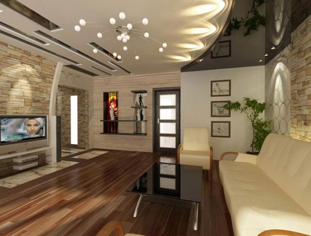 Фото: Дизайн-проект натяжных потолков