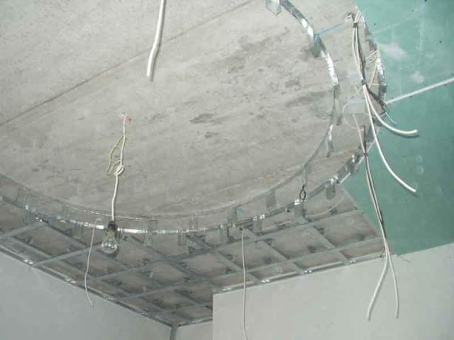 Монтаж электропроводки по гипсокартону 2