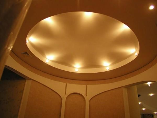 Как замерить овальный натяжной потолок?