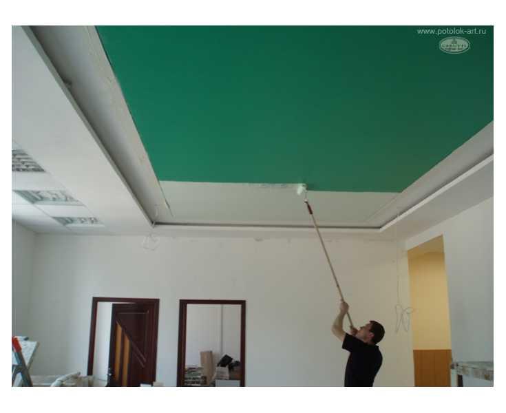 Фото: Можно ли красить натяжные потолки?