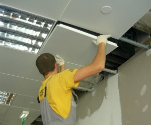 Монтаж подвесного потолка типа «Армстронг» своими руками