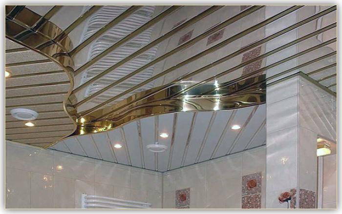 Фото: Потолок из реек