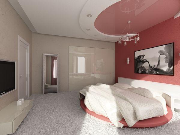 Фото: Навесные потолки для спальни