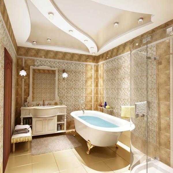 Подвесной потолок в ванной — красивая и долговечная поверхность
