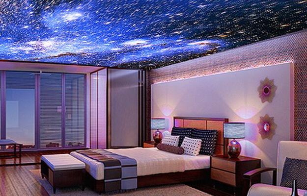 Фото: Сочетание отделки потолка и интерьера по цвету