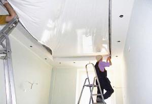 Технология монтажа натяжного потолка — как выполнить установку своими руками?