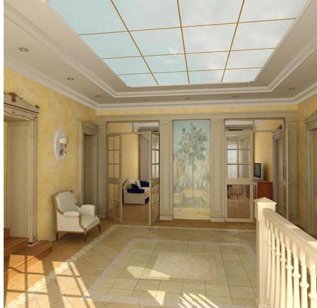 Подвесные стеклянные потолки — создание уникального интерьера