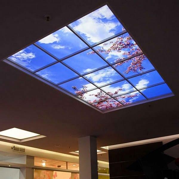 Фото: Потолок с фотопечатью