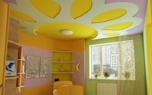 Фото: Подвесной потолок в детской комнате