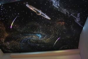 Фото: Натяжной потолок «Звездное небо»